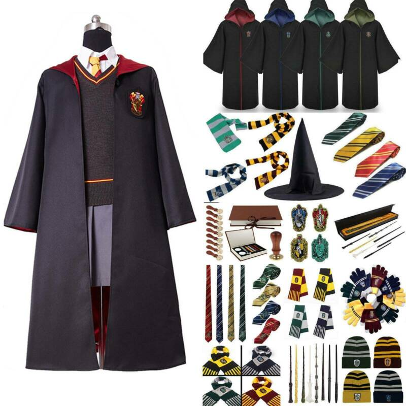 Harry Potter Kostüm Umhang Gryffindor Hufflepuff Slytherin Ravenclaw Schal Hot
