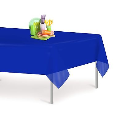 Blue 12 Pack Premium Disposable Plastic Tablecloth 54 Inch. x 108 Inch. Recta... - Blue Plastic Tablecloth
