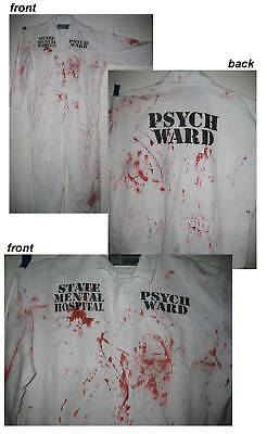 Bloody PSYCHO WARD Jumpsuit Halloween Costume XL 2X 3X 4X 5X BIG & TALL