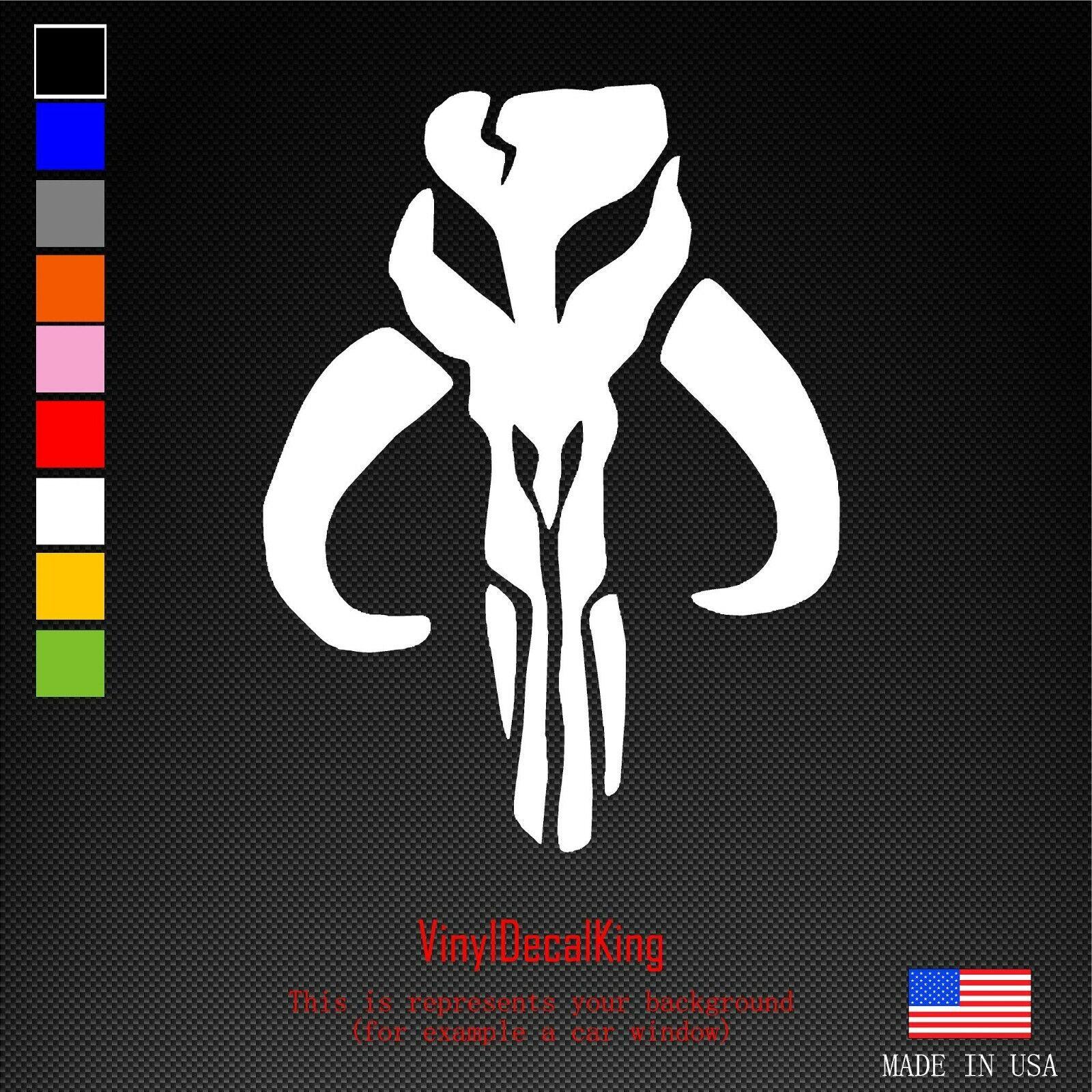 Home Decoration - Bantha Skull Mandalorian Boba Fett Vinyl Die Cut Car Decal Sticker-FREE SHIPPING