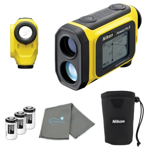 Nikon Forestry Pro II Laser Rangefinder Hypsometer with 3 Extra CR2