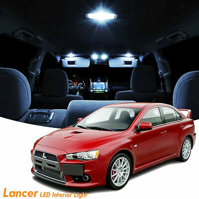 6x For Mitsubishi Lancer/EVO X 2008-2017 LED Lights Interior Package -