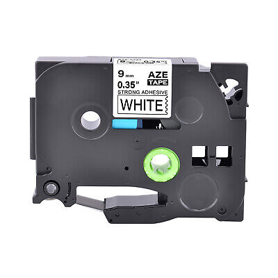 Tz Tze S221 Extra Adhesive Black On White Label Tape For Brother Pt-18rkt 38