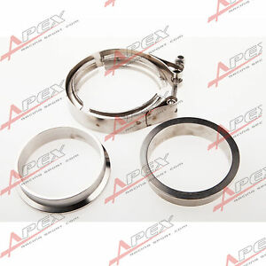 2-5-039-039-V-Band-Flange-amp-Clamp-Kit-for-Turbo-Exhaust-Downpipes-Mild-Steel-Flange