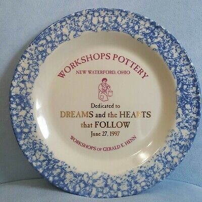 Workshops of Gerald Henn SIGNED BACK ~ Limited Edition ~ 1997 Pottery Plate 10""