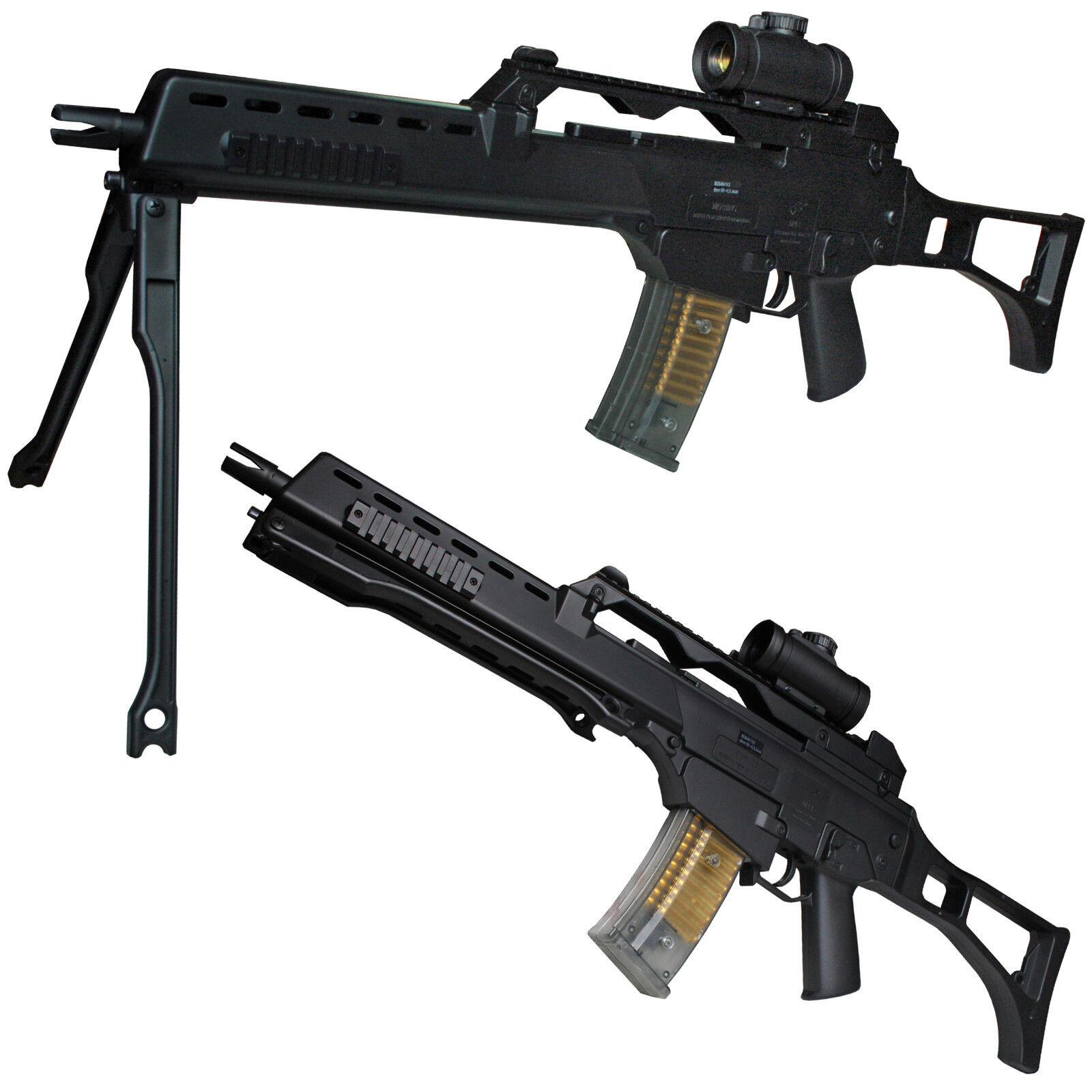 BGS M41K2 Softair Gewehr inkl. Leuchtvisier & Zubehör 6 mm <0,5 Joule schwarz