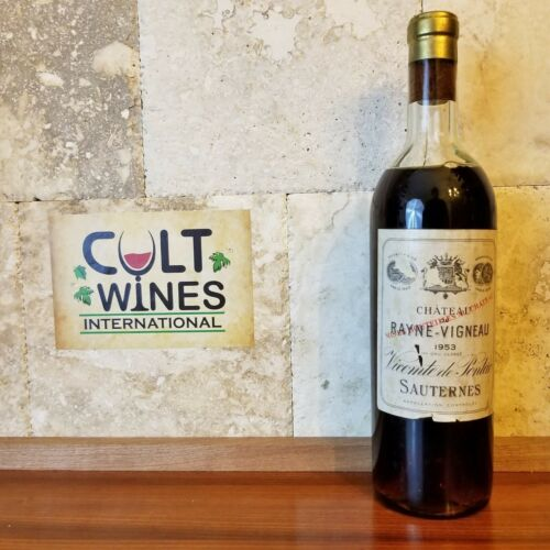 1953 Chateau Rayne Vigneau Sauternes wine, France
