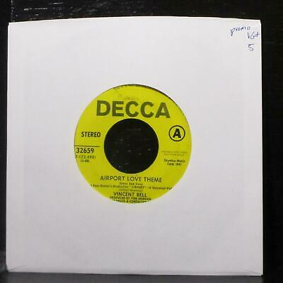 "Vincent Ball - Airport Love Theme / Marilyn's Theme 7"" VG+ Promo Vinyl 45 Decca"