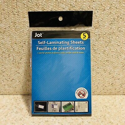 Jot Self-laminating Sheets 5pcsuse For Photos Business Cards Recipe Cards