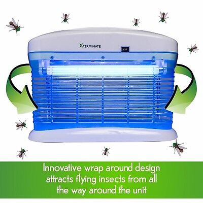 Xterminate Electric Insect Fly Zapper Killer 20W UV Light Trap Pests Catcher