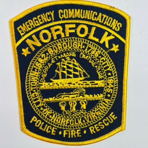 Norfolk Police Fire Rescue Emergency Communications Virginia VA Patch (A7-A)