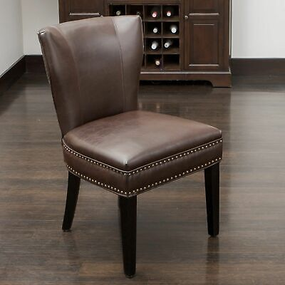 George Brown Leather Dining Chair ()