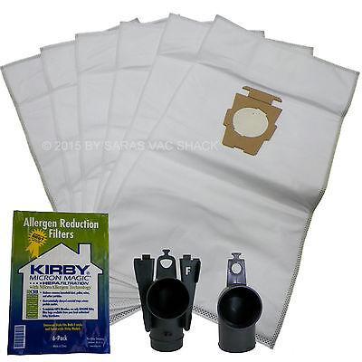 6 Genuine Kirby Vacuum Cleaner Bags Hepa Cloth Sentria II F Style Micron Magic