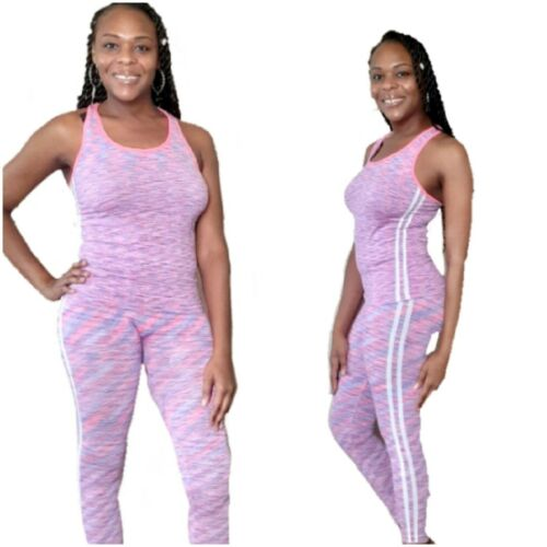 Women Gym Sports tank and Leggings Workout Yoga Jogging 2 Pi