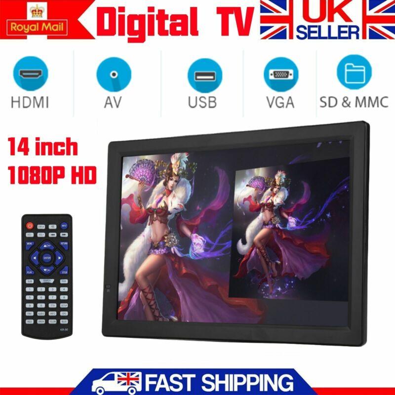 LEADSTAR+14%22+TV+1080P+HD+Digital+Portable+USB+Digtal+TV+Car+Television+PVR+DC12V