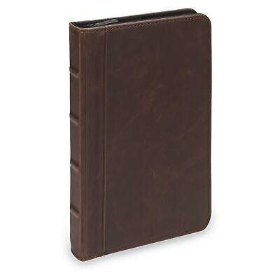 Samsill Small Vintage Portfoliozipper Faux Leather Portfolio Book Style Har...