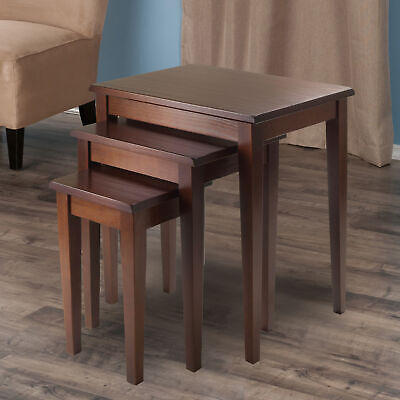 3-Piece Nesting Table Set Sofa End Side Accent Lamp Stand Living Room Furniture