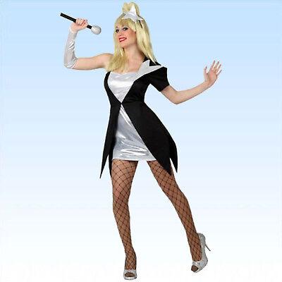 . S-XL + Mikrofon Popsternchen Faschingskostüm Gaga VIP Musik (Musik Kostüme)