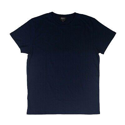 NWT A.P.C. Navy Blue Cotton Jimmy Short Sleeves T-Shirt Size XL