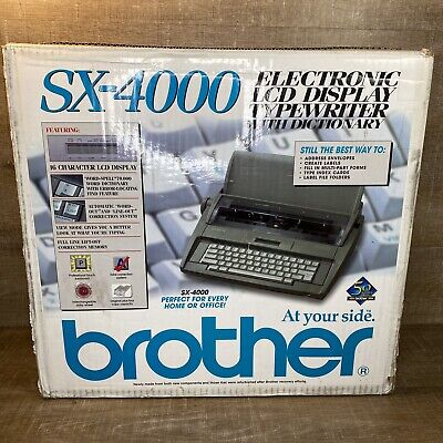 Brother Sx-4000 Electronic Lcd Display Typewriter New Open Box Vintage Keyboard