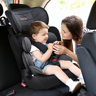Silla de Coche para Niños Reposacabezas Ajustable con Cinturón 43x41x70-79 cm
