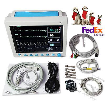 Fda Vet Veterinary Patient Monitor Ecg Spo2 Monitor Nibp Resp Temp Pranimal Use