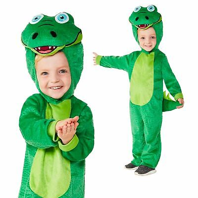 Toddler Crocodile Fancy Dress Animal Book Day Jumpsuit Party Costume Girls Boys - Crocodile Toddler Costume