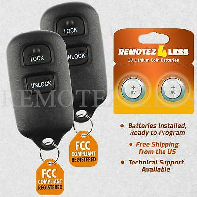 2 Replacement for 1999 2000 2001 Toyota Camry Keyless Remote Car Key Fob 2b ()