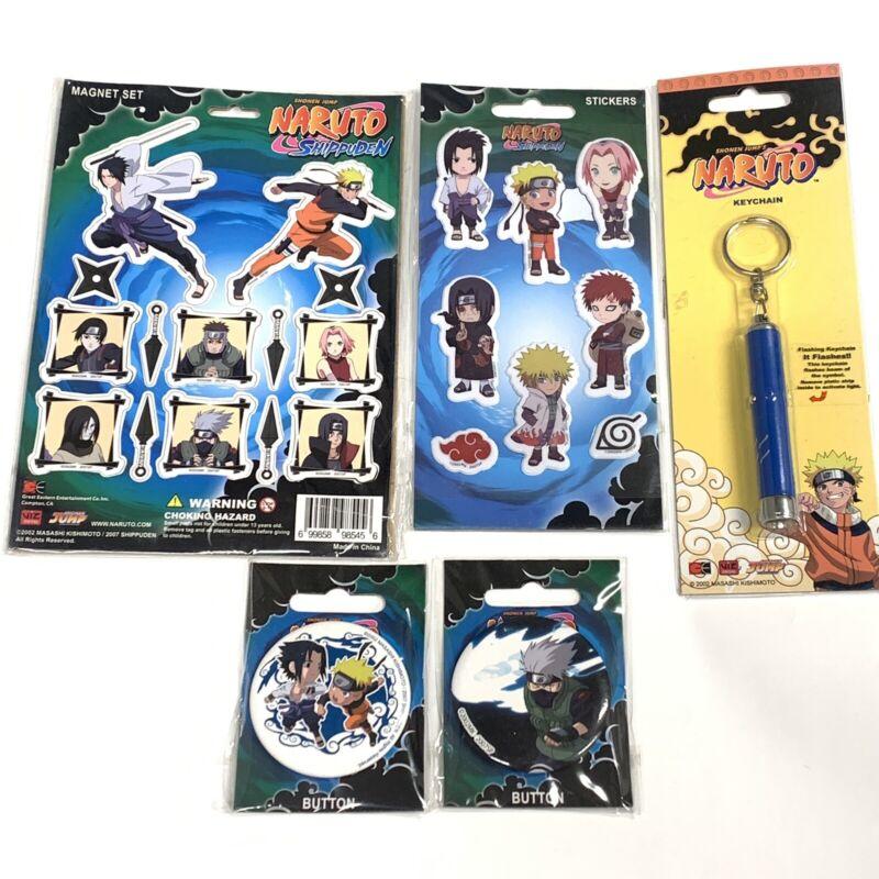 Naruto Shippuden Collectible Lot Anime Manga Set Licensed Sticker Keychain New