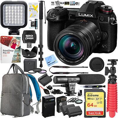 Panasonic DC-G9LK LUMIX G9 Mirrorless Camera w/ Leica 12-60mm Lens Video Bundle