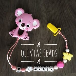 Handmade silicone teething necklaces
