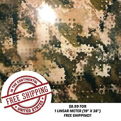 Hydrographic Water Transfer Hydro Dip Film Army Camo 5 1m 19 X 38