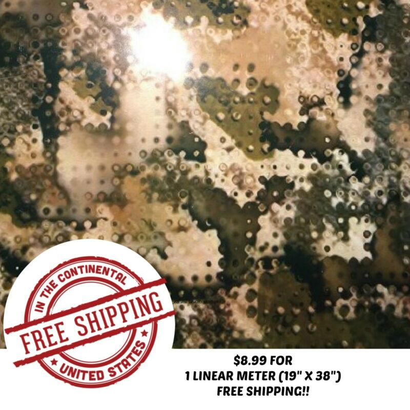 "HYDROGRAPHIC WATER TRANSFER HYDRO DIP FILM ARMY CAMO 5 1M (19"" X 38"")"