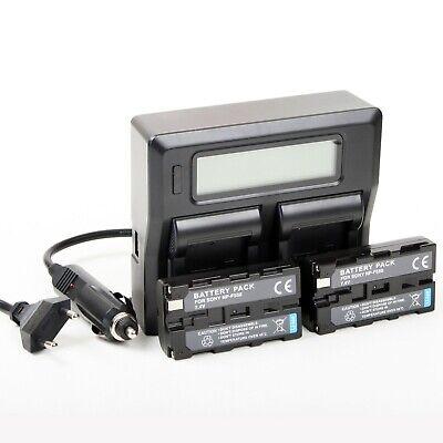 Cargador Doble + 2 Baterías NP-F550 para Sony HDR-FX1E, FX7, FX7E, HDV-FX1,...