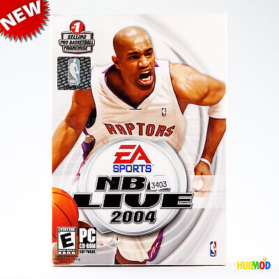 NEW EA Sports NBA LIVE 2004 Pro Basketball PC Game Software