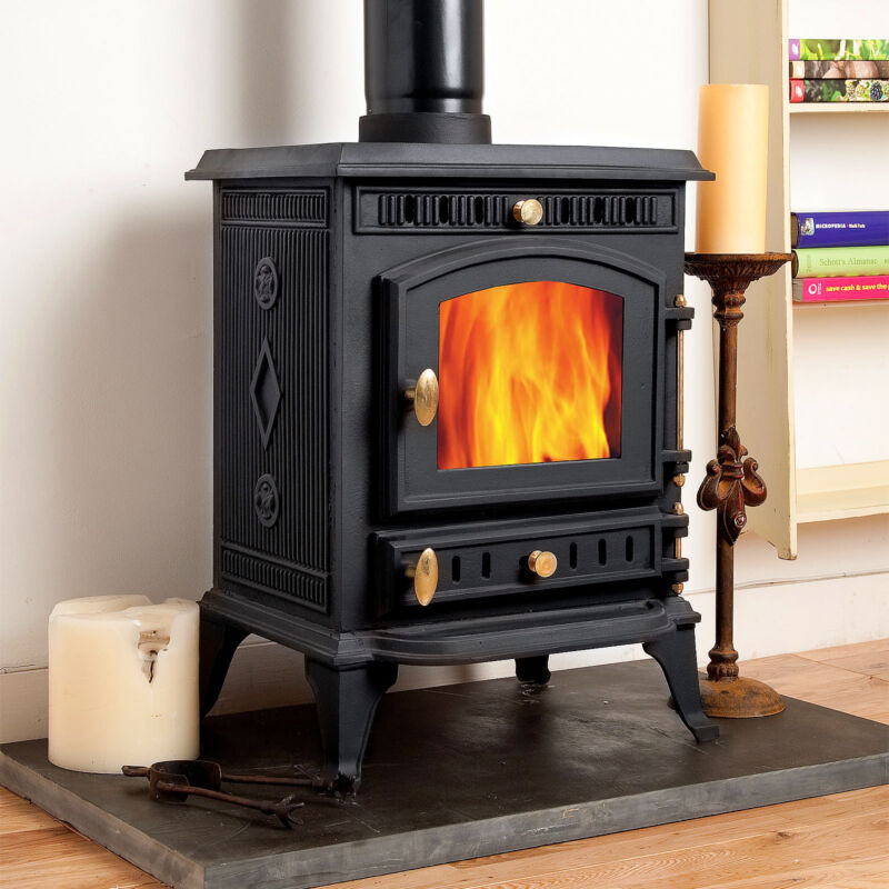 Multi Fuel Burner Reviews: COSEYFIRE 22 BACK BOILER WOODBURNING CAST IRON STOVE FIRE