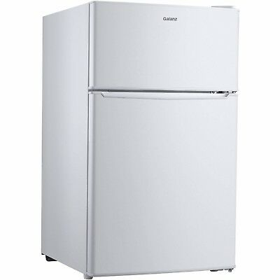 Galanz 3.1 cu ft Compact Refrigerator Double Doors, White, *BRAND NEW*