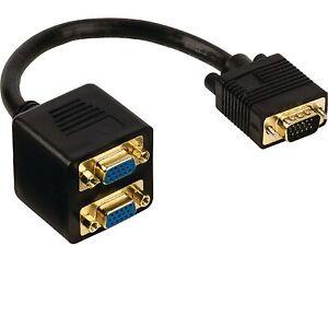 z HighQ Assmann SVGA s-VGA Y-Kabel Stecker 15-pol Splitter Monitor Verteiler
