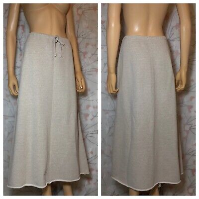 DKNY PURE Sweatshirt Material Knit Maxi Skirt, Heathered Tan, Size M (10-12)