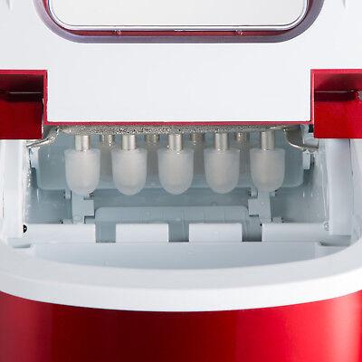 Eiswürfelmaschine Eiswürfelbereiter Icemaker Ice Maker Machine rot B-Ware