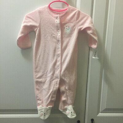 Footed Sleeper Pajamas Pj S (NWT CARTER's 6 Months Sleeper Pajamas PJ's Footed Mouse Pink Polka Dot)