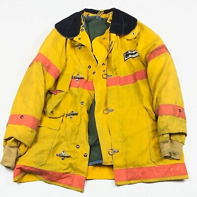 Chieftain Gardwell Nomex 35m Firemans Jacket Turnout Coat Sz 44 Made In Usa