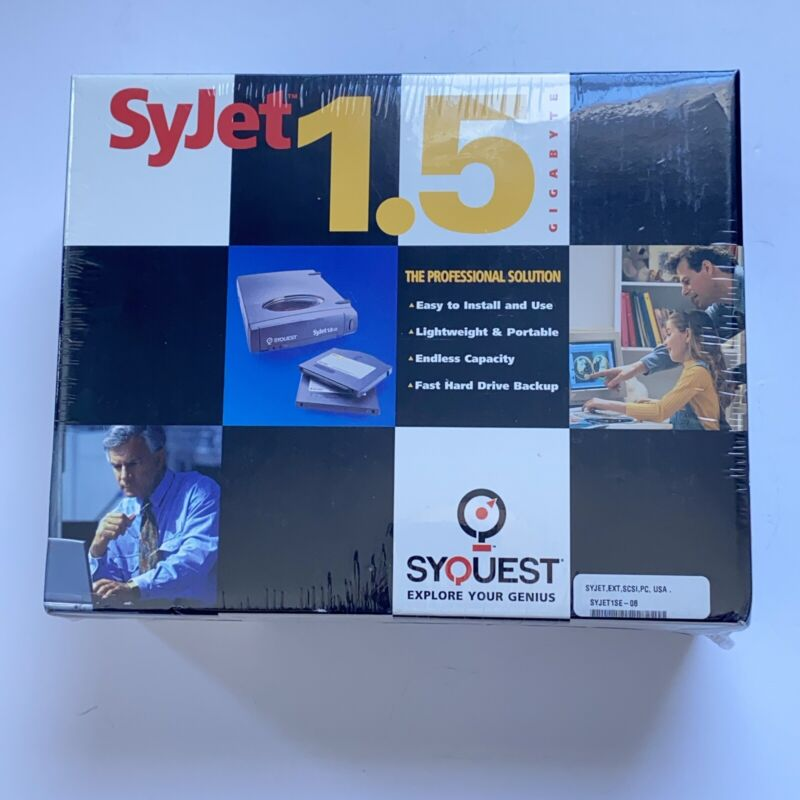"SyQuest SyJet 1.5 GB 3.5"" External SCSI Removable Drive - New Sealed"