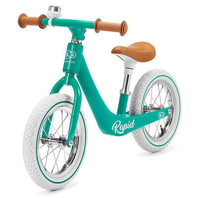 Kinderkraft Bicicleta sin Pedales RAPID Niño Sillín Ajustable con Freno Verde