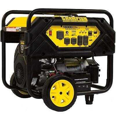 Champion 100111 - 12000 Watt Electric Start Portable Generator Carb