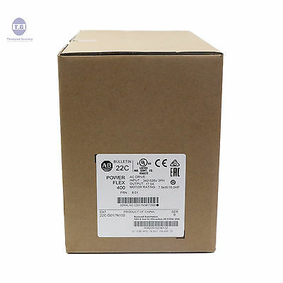 New Sealed Allen Bradley 22cd017n103 Powerflex 400 Ac Drive 3ph 17a
