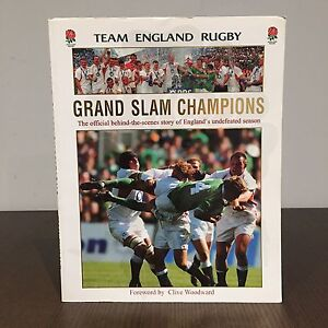 2003 Team England Rugby Grand Slam Champions Softcover Book
