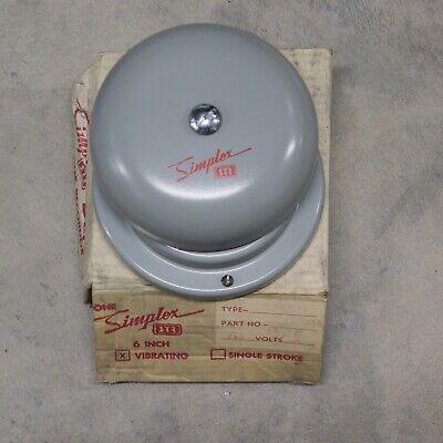 Simplex Str 4017-65 6 Grey Vibrating Bell Part 624-235 240v Ac Nos W Mount