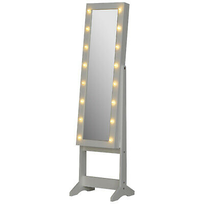 Marquee Mirror Cabinet LED Lights Cosmetic Storage Full-Length Organiser Dresser