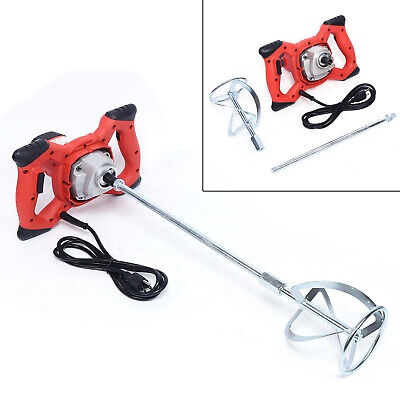 110v 900w Industrial Electric Mortar Mixer Paint Cement Grout Speed Adjustable